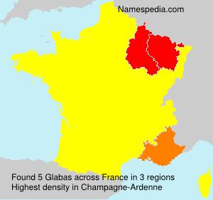Surname Glabas in France