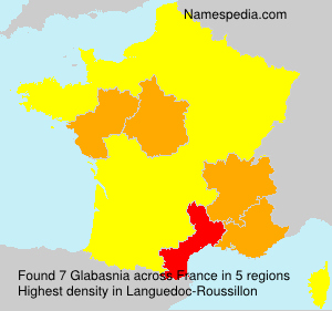Surname Glabasnia in France