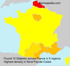 Surname Glabeke in France