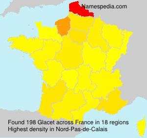Surname Glacet in France