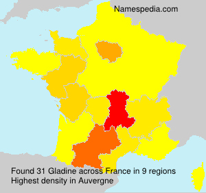 Surname Gladine in France