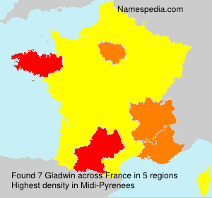 Surname Gladwin in France