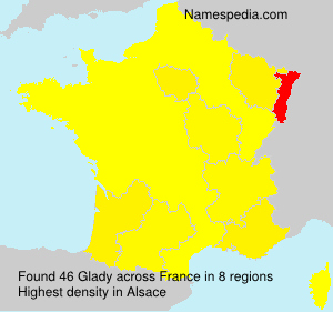 Surname Glady in France