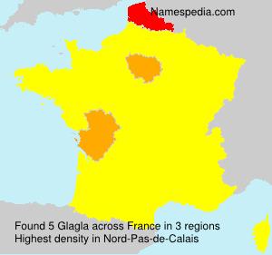 Surname Glagla in France