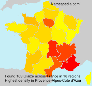 Surname Glaize in France