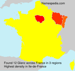 Surname Glanz in France