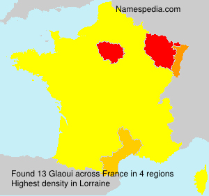 Surname Glaoui in France