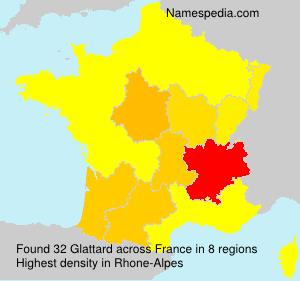 Surname Glattard in France