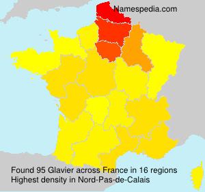 Surname Glavier in France