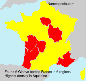 Surname Gleave in France