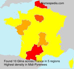 Surname Glina in France