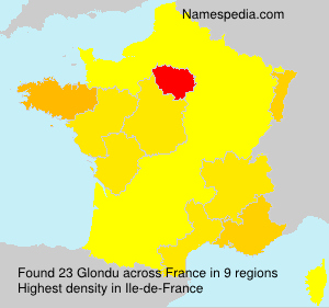Surname Glondu in France