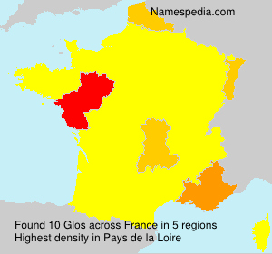 Surname Glos in France