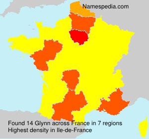 Surname Glynn in France