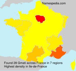 Familiennamen Gmati - France