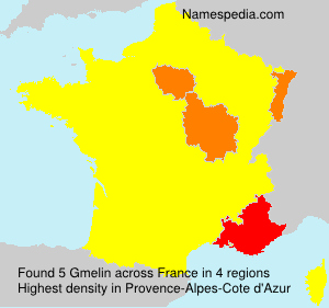 Surname Gmelin in France