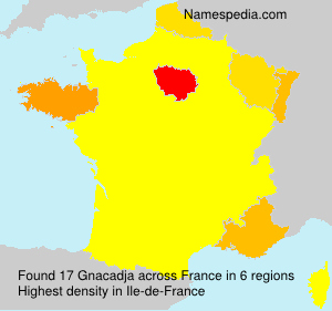 Surname Gnacadja in France