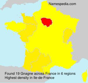 Surname Gnagne in France