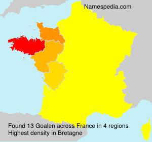Surname Goalen in France