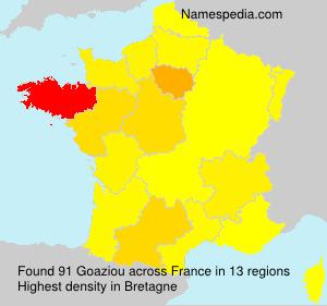 Surname Goaziou in France
