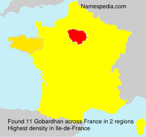 Surname Gobardhan in France