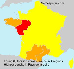 Familiennamen Gobillion - France