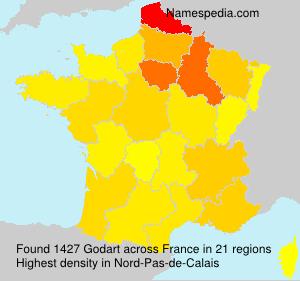 Surname Godart in France