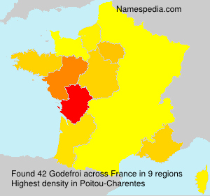 Surname Godefroi in France