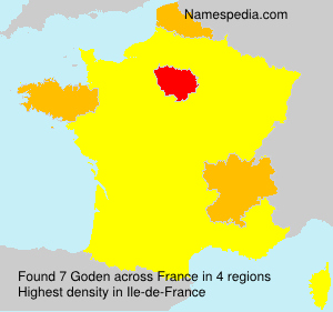 Surname Goden in France