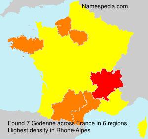 Surname Godenne in France