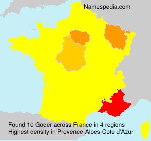 Surname Goder in France