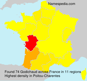 Surname Godichaud in France
