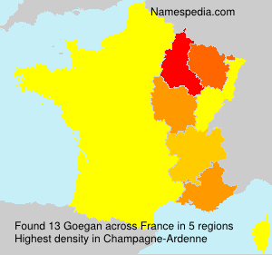 Surname Goegan in France