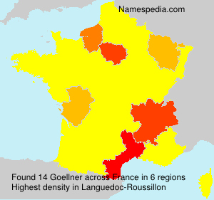 Surname Goellner in France