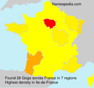 Surname Goga in France