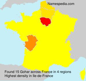 Surname Gohar in France