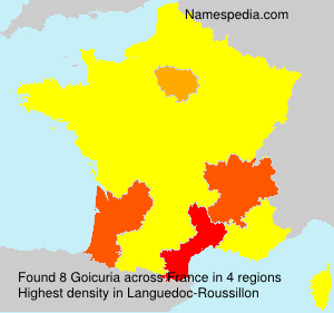 Surname Goicuria in France