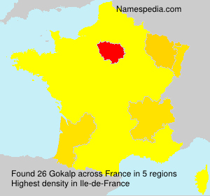 Surname Gokalp in France