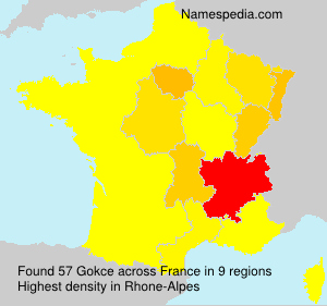 Surname Gokce in France