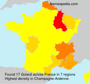 Surname Golard in France