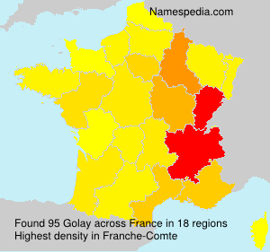 Surname Golay in France
