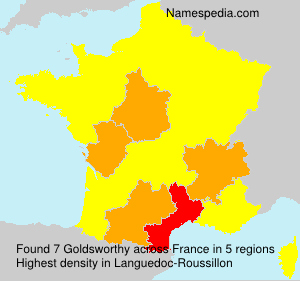Surname Goldsworthy in France