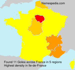 Surname Golea in France