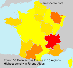 Surname Golin in France