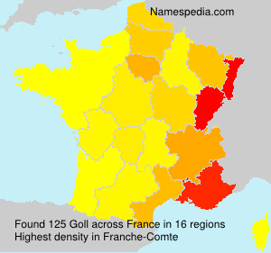 Surname Goll in France