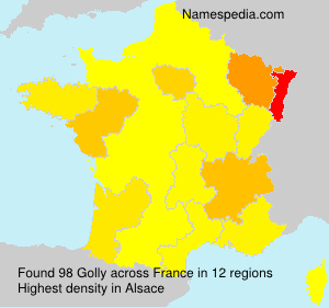Surname Golly in France