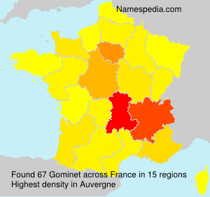 Surname Gominet in France