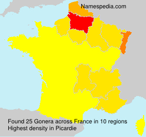 Surname Gonera in France