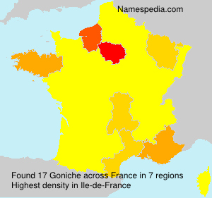 Surname Goniche in France