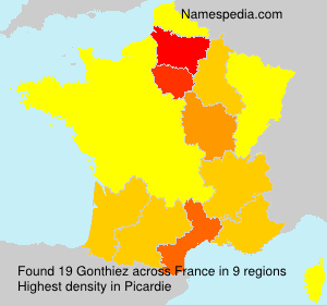 Surname Gonthiez in France